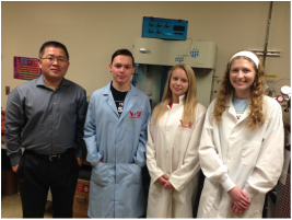 Dr. Wang and student researchers
